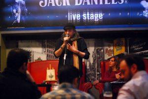 Από την παρουσίαση του βιβλίου στο Bullet Cafe Club στις 12 Δεκεμβρίου 2015