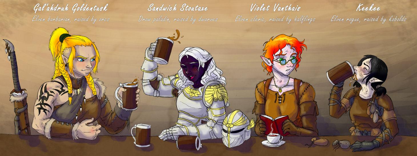 dnd_goldentusk_and_irregulars_by_kaffeezombie-d33e0n5