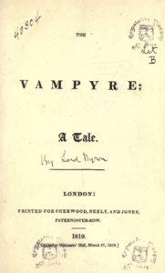 Εξώφυλλο της πρώτης έκδοσης. Οι εκδότες πίστευαν πως το αρχικό χειρόγραφο που έλαβαν ανήκε στον G. G. Byron.
