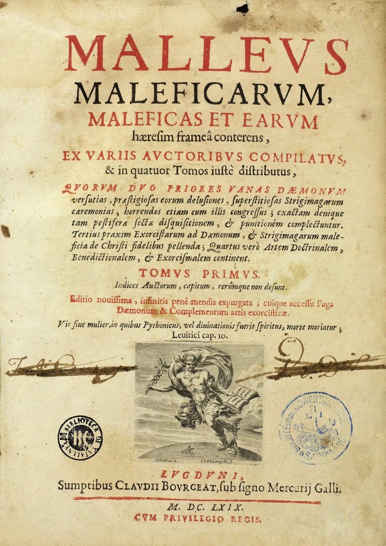 Εξώφυλλο του Malleus Maleficarum.