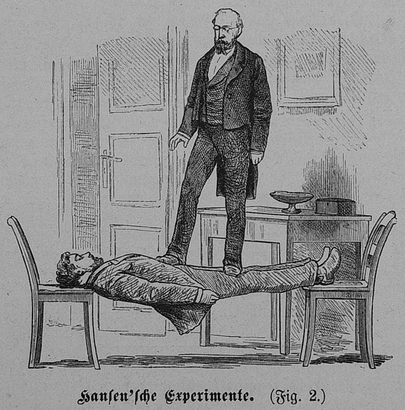 Σκίτσο με αποτέλεσμα της Ύπνωσης σε Υπνωτισμένο, 1880